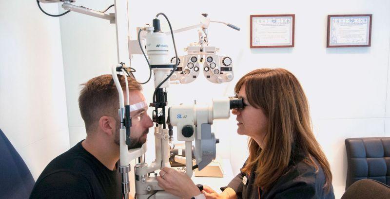 prueba polo-anterior optometría