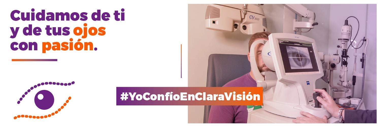 revisión ojos opticas claravision