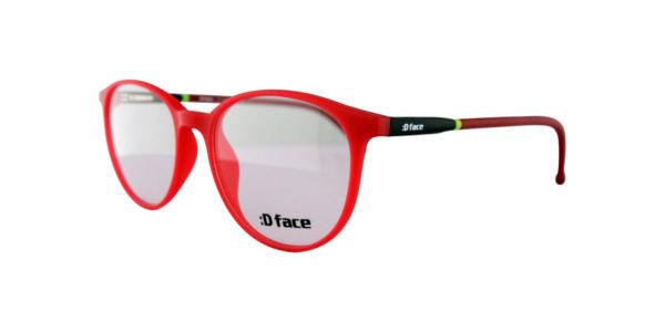 Gafas niños rojas redondas